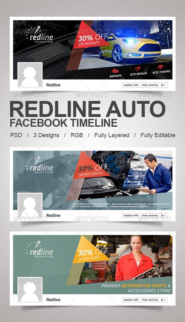 Redline Auto Timeline - Facebook Timeline Covers Social Media