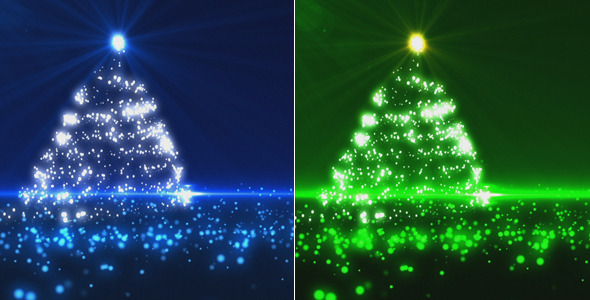 Blue And Green Christmas Tree (2 Pack) By Marianst
