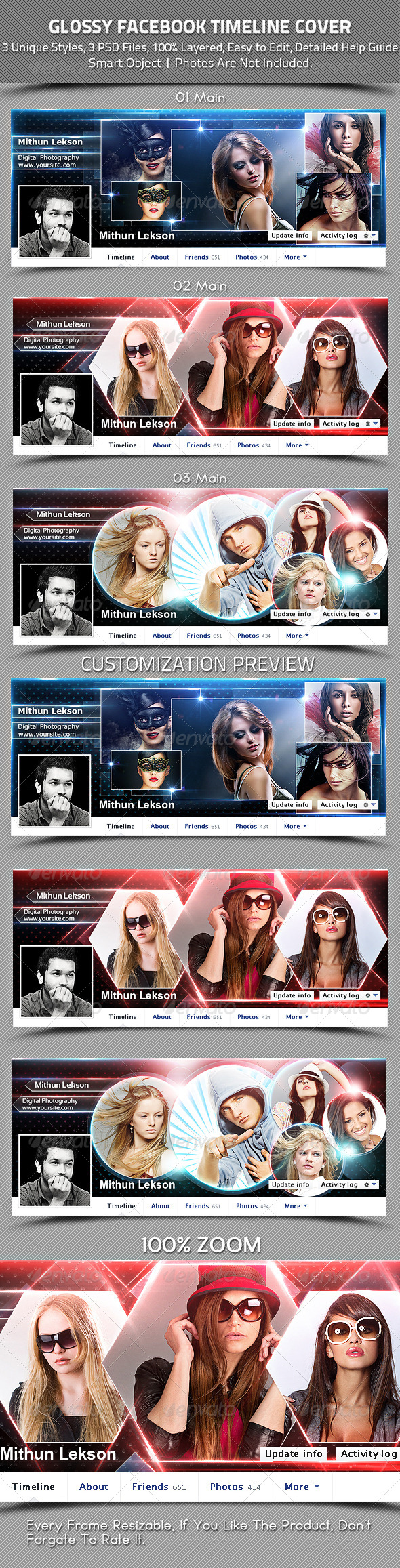 Glossy Facebook Timeline Cover - Facebook Timeline Covers Social Media