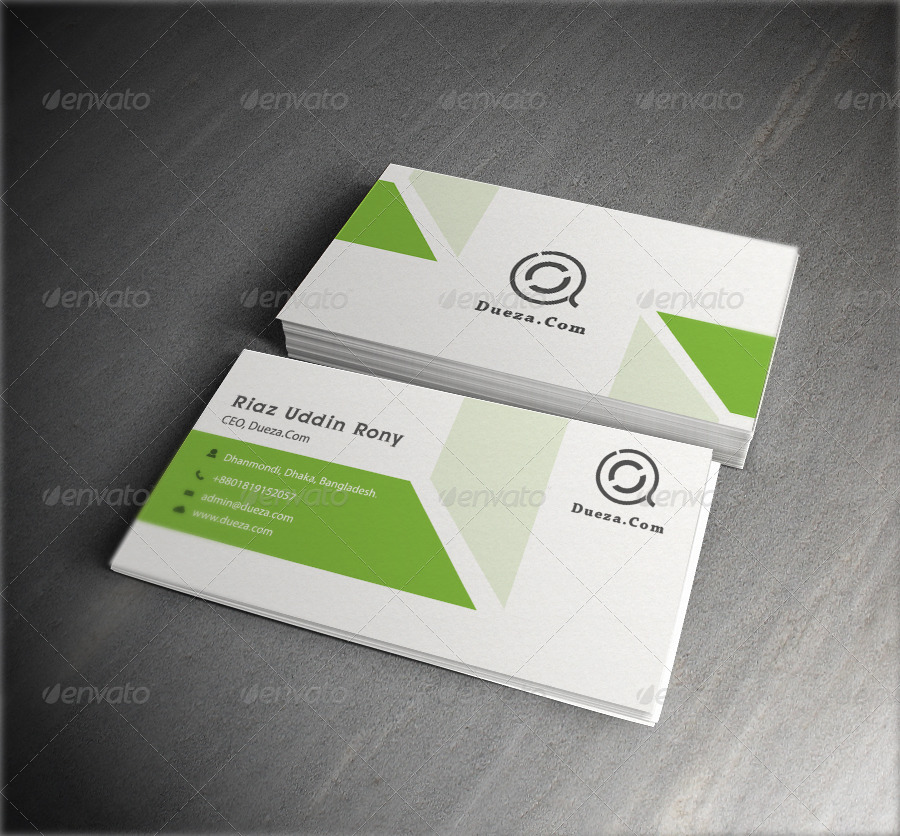 Light Green Business Card by graphicsdesignstudio | GraphicRiver
