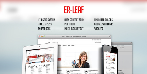 ER Leaf – Responsive Business HTML5 Theme