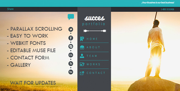 Success Portfolio | One Page MuseTemplate 1.0