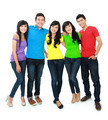 group of five teenager