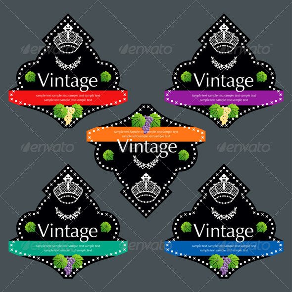 Wiine Labels Design Set - Decorative Vectors