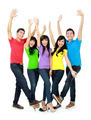 Group of smiling teenagers