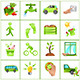 Go green concept icons - GraphicRiver Item for Sale