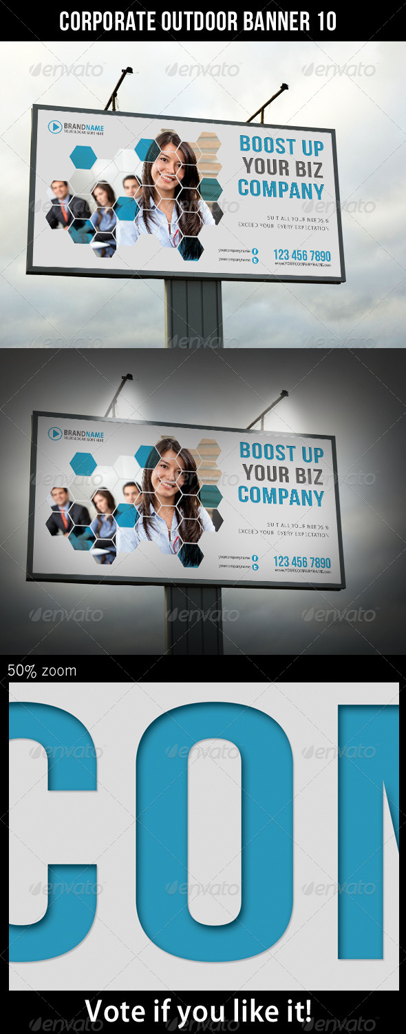 Corporate Outdoor Banner 10 - Signage Print Templates