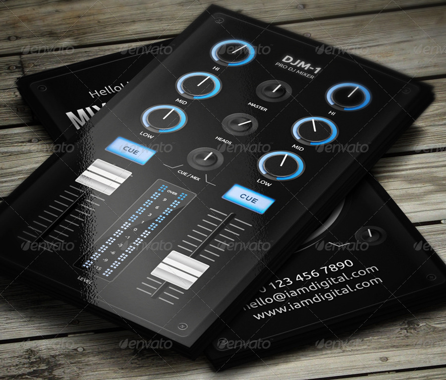 Dj buisness tiredriveeasy digital dj business card by vinyljunkie graphicriver flashek