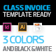 Class Invoice Template - GraphicRiver Item for Sale