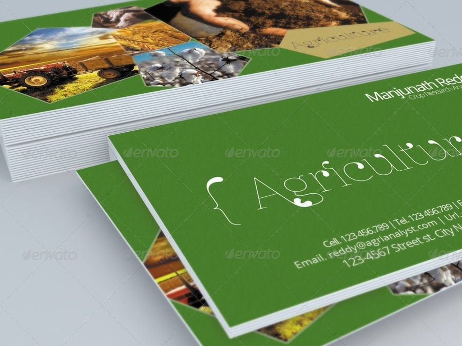 Agriculture Business Card Template by HanifHaroon | GraphicRiver