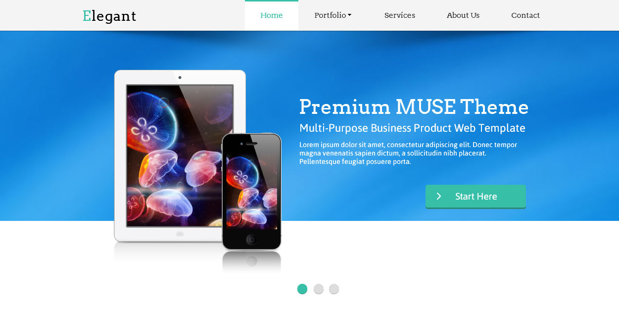 Elegant Muse Web Template By Barisintepe ThemeForest - Adobe muse website templates
