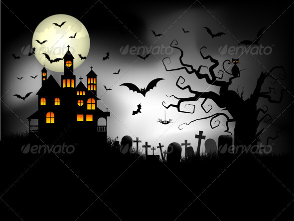 Spooky Halloween Background - Halloween Seasons/Holidays