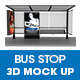 Bus Stop Ad Panel 3D Mockup - GraphicRiver Item for Sale