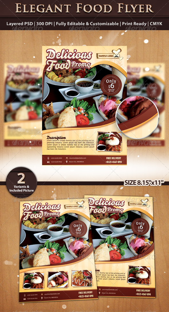 Elegant Food Flyer Template By Riliantdika Graphicriver