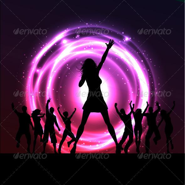 Female singer performing - People Characters