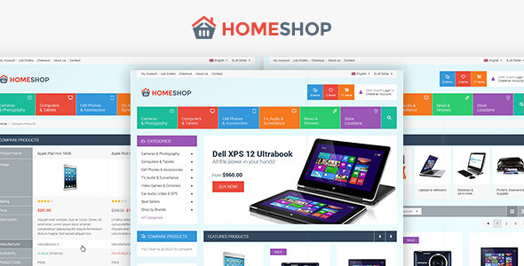 Home Shop - Retail PSD Template - Retail PSD Templates