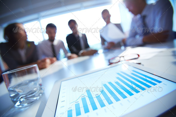 Document in touchpad - Stock Photo - Images