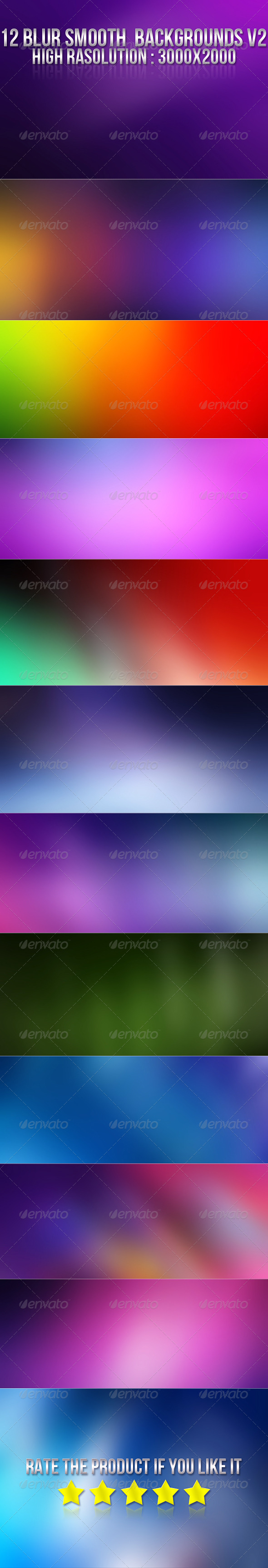 12 Smooth Blur Backgrounds V2 - Backgrounds Graphics