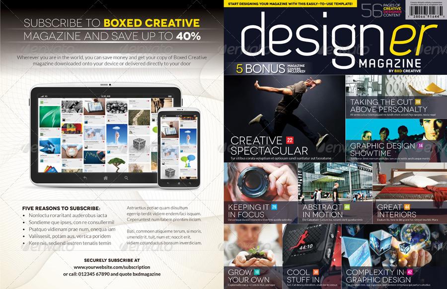 Magazine Template Bundle - InDesign Layout V1 by BoxedCreative ...