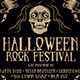 Halloween Rock Festival Flyer Template - GraphicRiver Item for Sale