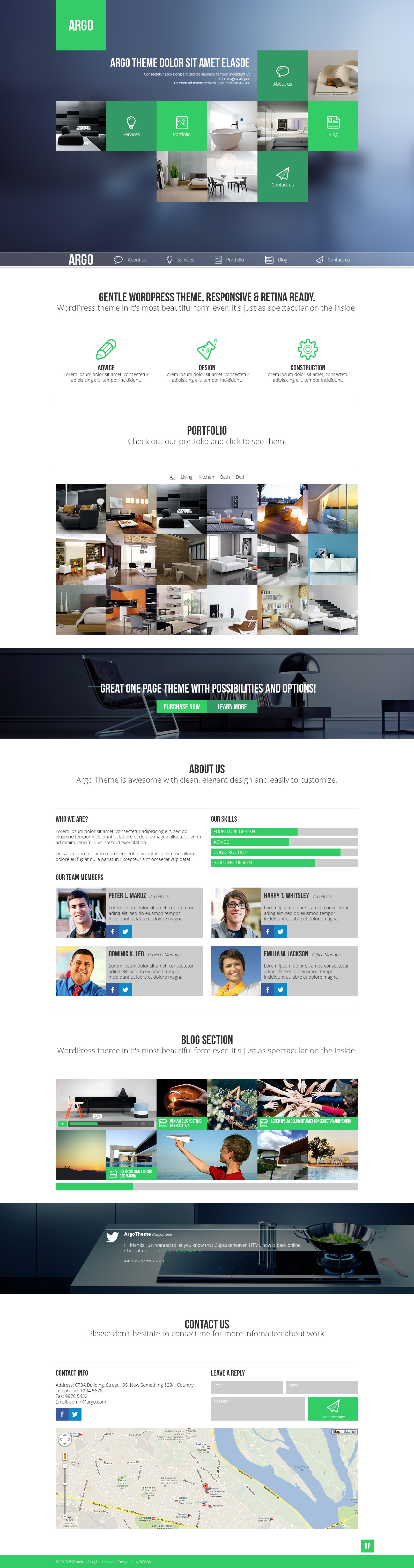 Argo - One Page Portfolio PSD Template by DZOAN | ThemeForest