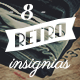 8 Retro Insignias - Collection 1 - GraphicRiver Item for Sale