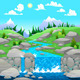 Mountain Landscape with River. - GraphicRiver Item for Sale