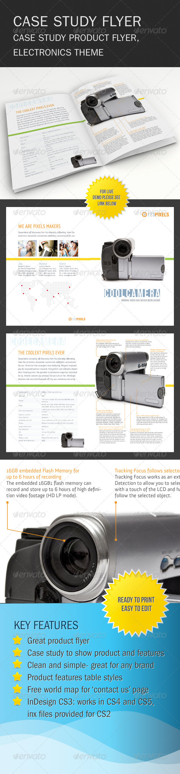 Product Case Study Flyer - Commerce Flyers