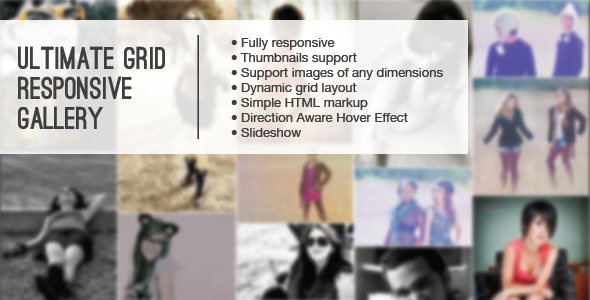 Ultimate Grid Responsive Gallery - CodeCanyon Item for Sale