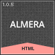 Almera Responsive Portfolio Site Template - ThemeForest Item for Sale