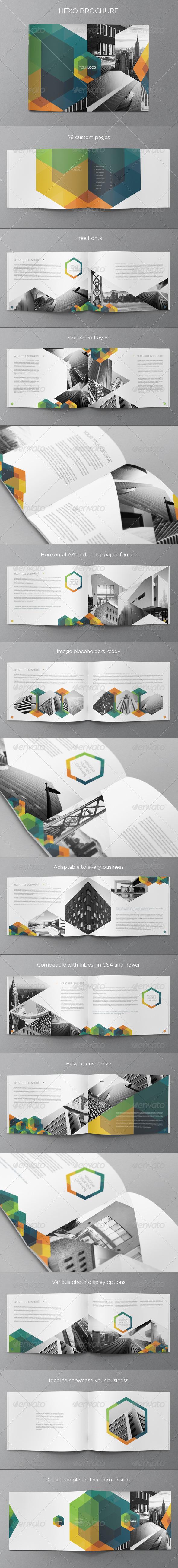 Modern Real Estate Hexo Brochure - Brochures Print Templates