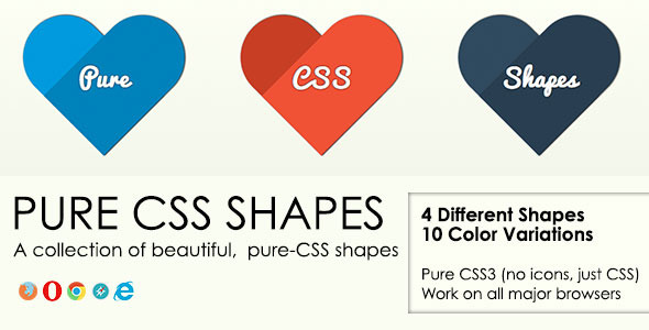 Pure CSS Shapes - Vol. 1