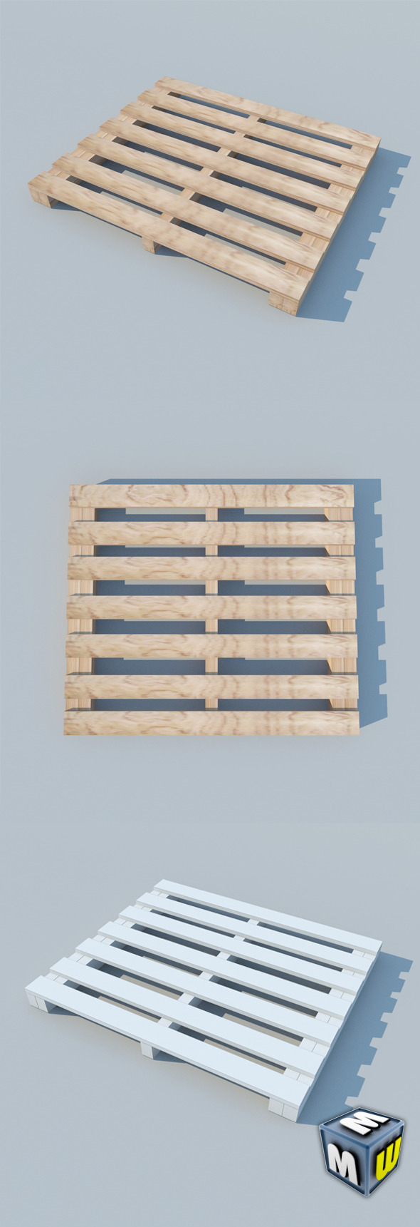 Wood Pallet 2 MAX 2011 - 3DOcean Item for Sale