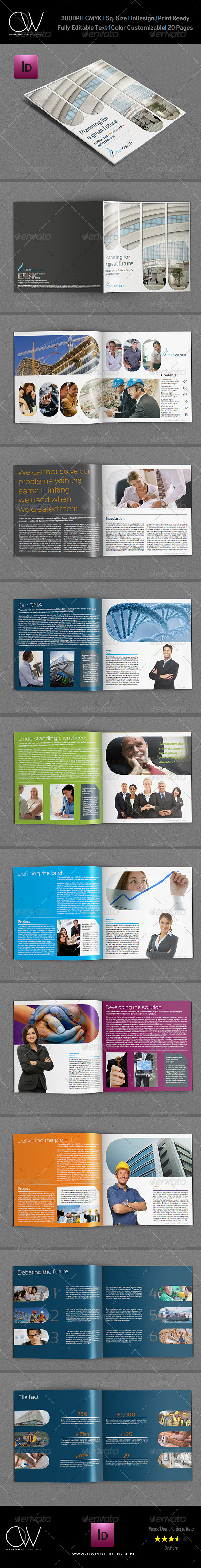 Company Brochure Template Vol.10 - 20 Pages - Corporate Brochures