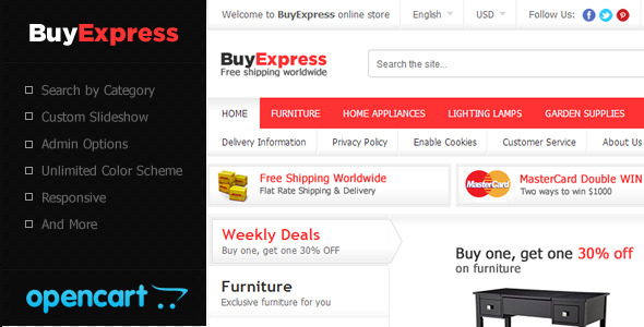 BuyExpress OpenCart Theme by raviG | ThemeForest