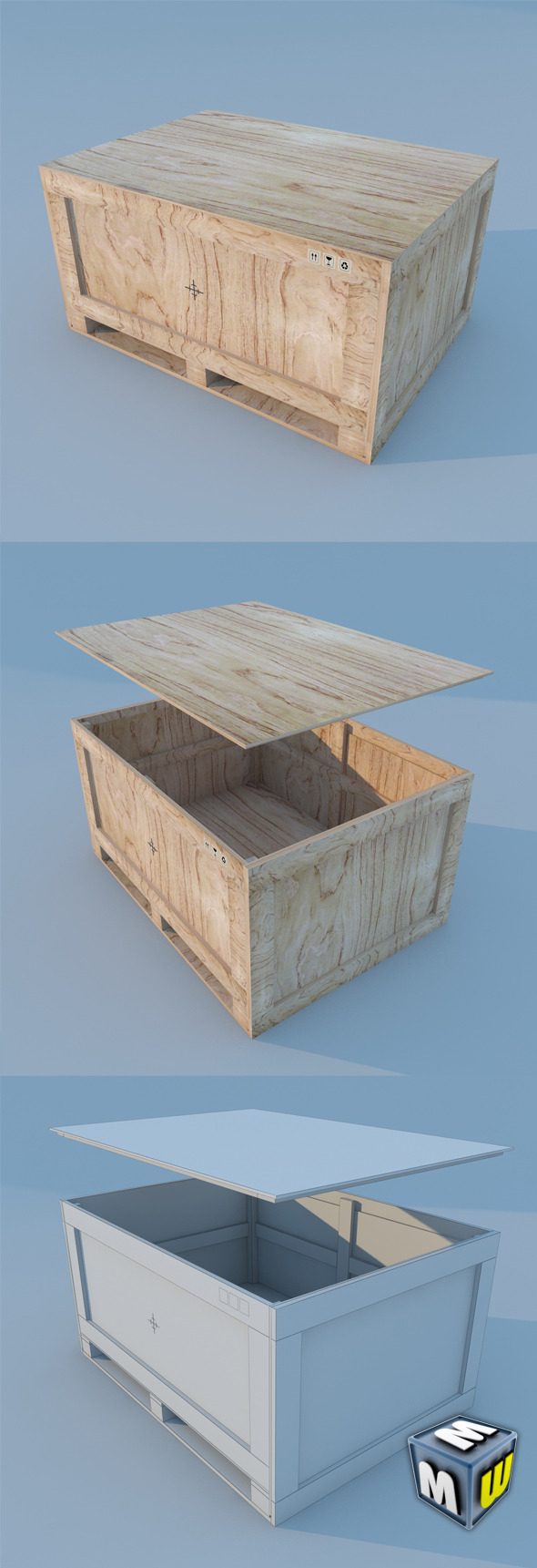 Wood Container MAX 2011 - 3DOcean Item for Sale