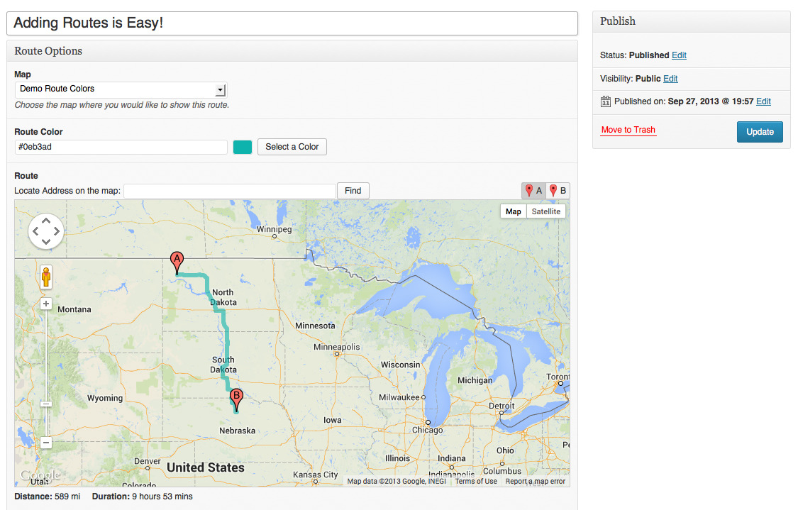 Pretty Routes Add Routes To Google Maps By Scissorbox Codecanyon