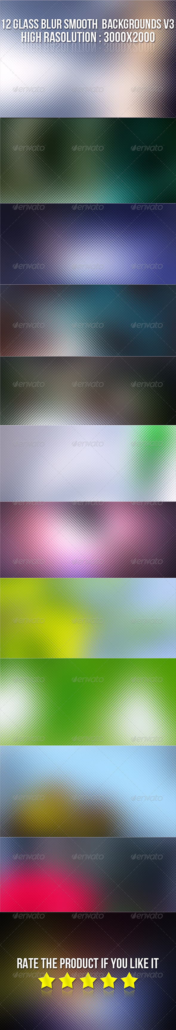 12 Glass Blur Backgrounds V3 - Backgrounds Graphics