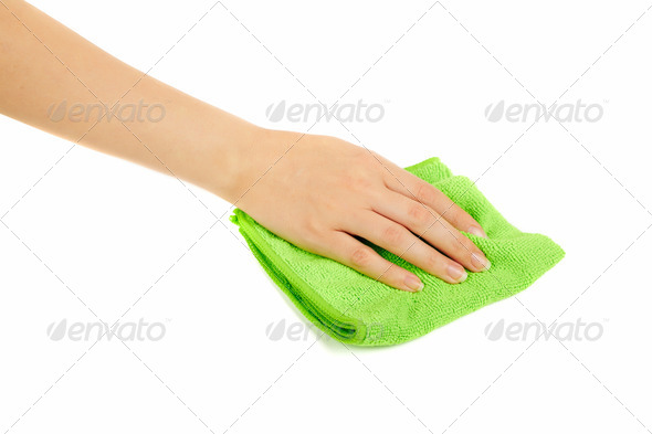 hand holding a sponge - Stock Photo - Images