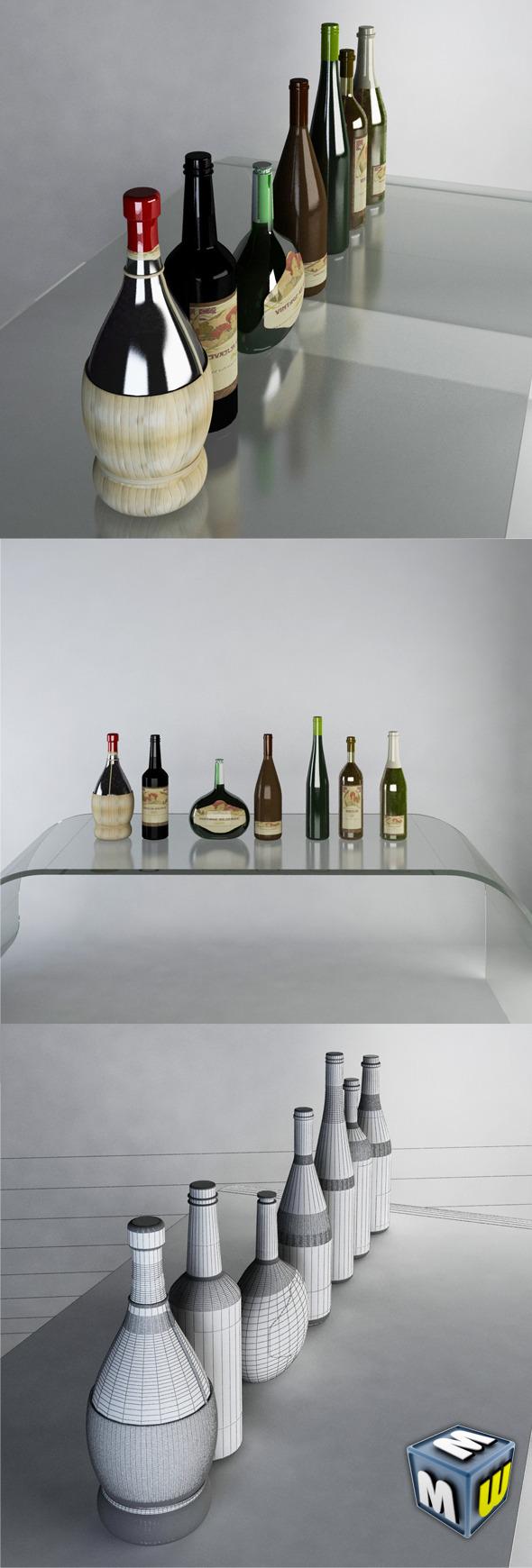 Luxury Wine Bottles MAX 2011 - 3DOcean Item for Sale