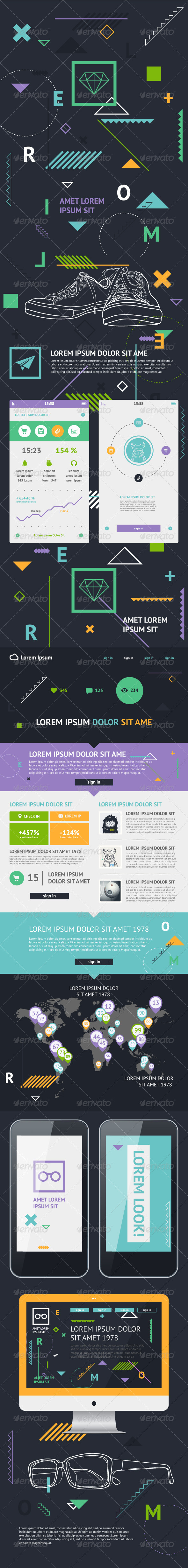 Flat Elements of Infographics - Infographics