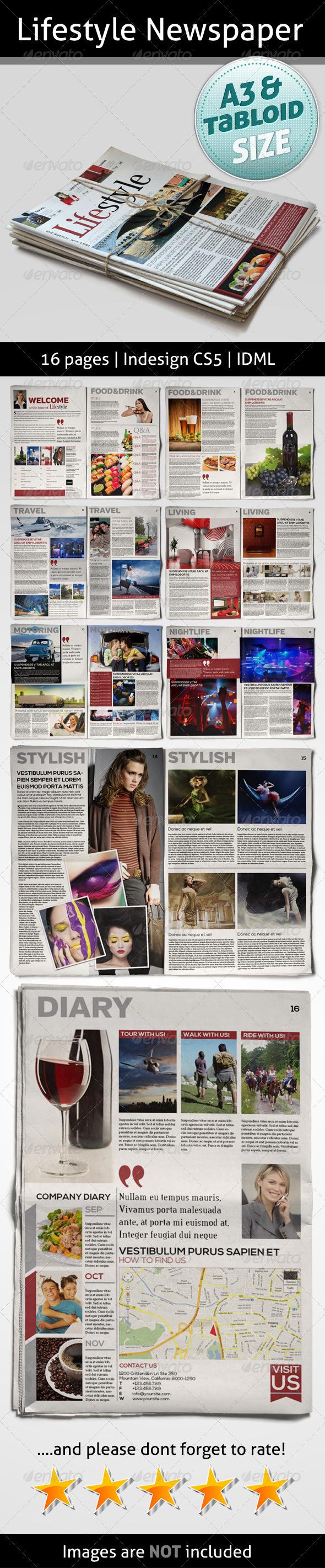 Lifestyle Newspaper - Print Templates