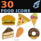 30 Food Icons - GraphicRiver Item for Sale