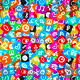 Messy Apps Background. Random Multicolored Web Icons. - GraphicRiver Item for Sale