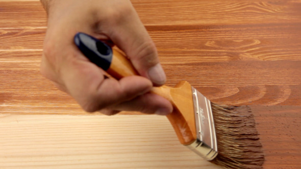 Varnishing Of The Wooden Board by GoodMan_Ekim | VideoHive