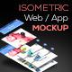 Isometric Web / App Mockup - GraphicRiver Item for Sale