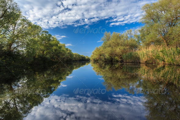 river channel - Stock Photo - Images