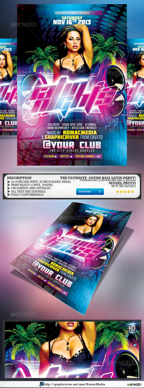 Club Sessions l Sound Bass Latin Nights - Clubs & Parties Events