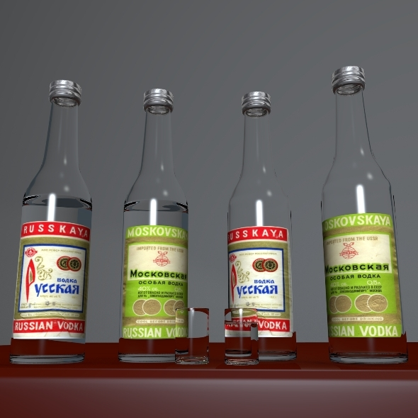 Russian Vodka - 3DOcean Item for Sale