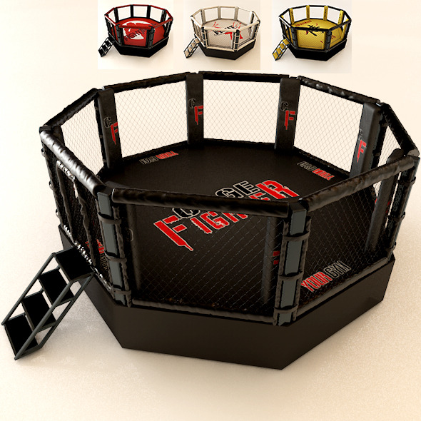 Realistic Mma Cage - 3DOcean Item for Sale